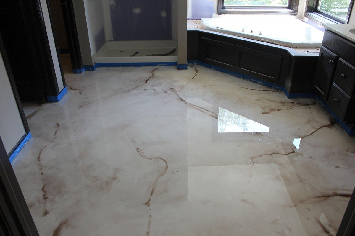 Liquid marble epoxy coat texas houston epoxy flooring for Which floor or what floor